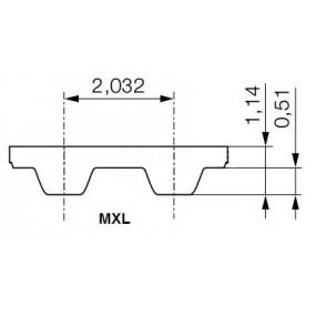 Pas zębaty 776-MXL-025 z97