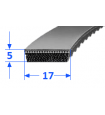 Pas szerokoprofilowy SVX 17x5 606 OPTIBELT