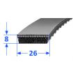 Pas szerokoprofilowy SVX 26x8 1082 OPTIBELT