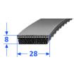 Pas szerokoprofilowy SVX 28x8 1400 OPTIBELT