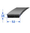 Pas szerokoprofilowy SVX 52x16 1250 OPTIBELT
