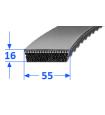 Pas szerokoprofilowy SVX 55x16 1800 OPTIBELT