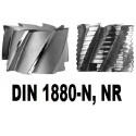 Frezy walcowo-czołowe, nasadzane do obróbki zgrubnej z zabierakiem czołowym DIN 1880-N, NR